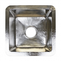 """16"""" x 16"""" Small Square Bar Sink - Polished Nickel"""
