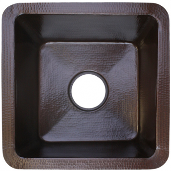 "16"" x 16"" Small Square Bar Sink - Dark Bronze"