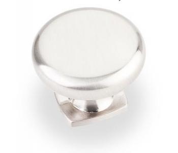 Satin Nickel Belcastel Collection Forged Look Flat Bottom Cabinet Knob 1-3/8 Inch Diameter